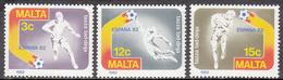 MALTA       SCOTT NO. 616-18        MNH     YEAR  1982 - Malta