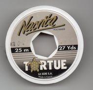 """Publicité--Bobine De Fil De Pêche Vide De Marque """" TORTUE """"  LA SOIE S.A --diamètre  5cm épaisseur 1cm - Advertising"""