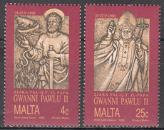 MALTA       SCOTT NO. 759-60       MNH     YEAR  1990 - Malta