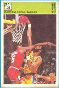 KAREEM ABDUL JABBAR - Yugoslav Vintage Card Svijet Sporta ** LARGE SIZE ALIKE A POSTCARD ** Basketball Basket-ball NBA - Singles