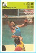 DINO MENEGHIN Varese Milano Trieste  Yugoslavia Old Card Svijet Sporta LARGE SIZE * Basketball Basket-ball Pallacanestro - Non Classificati