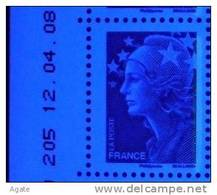 4231 Marianne Beaujard TVP Bleu 1 Bande De Phosphore à Droite (2008) Neuf** - Ungebraucht