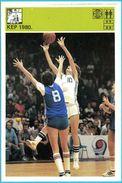 FIBA EUROBASKET WOMAN 1980. -  Yugoslavia Old Card Svijet Sporta LARGE SIZE Basketball Basket-ball Pallacanestro - Sports