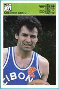 KRESIMIR COSIC Cibona , Zadar - Yugoslavia Vintage Card Svijet Sporta LARGE SIZE Basketball Basket-ball Pallacanestro - Singles