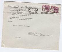 1940s ITALY COVER MAGNANINI EMILIO Pubblico Mediatore In CARBONI MINERALI E Vegetali To GB Minerals Stamps - Minerali