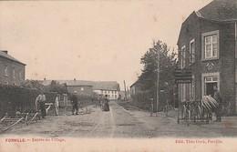 Forville   Entrée Du Village Animée Marchand De Vélos Circulé En 1909 - Fernelmont