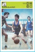 ZORAN SLAVNIC KK Crvena Zvezda - Yugoslavia Vintage Card Svijet Sporta LARGE SIZE Basketball Basket-ball Pallacanestro - Sports