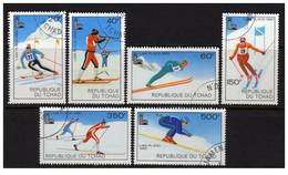 Chad, Scott # 381-6 Used Set Olympics Lake Placid 1980 - Chad (1960-...)