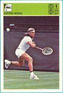 BJORN BORG - Tennis , Sweden ... Yugoslavia Vintage Card Svijet Sporta LARGE SIZE ALIKE A POSTCARD Tenis Sport - Trading Cards