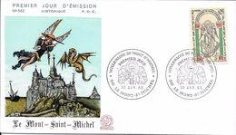 1482 - MILLÉNAIRE DU MONT-SAINT-MICHEL - 30/4/66 - FDC