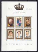 LUXEMBURGO 1990. CENTENARIO DE LA DISNASTIA NASSAU. HOJA BLOQUE  Nº 16   NUEVAS SIN CHARNELA.   CECI 2 Nº 127 - Luxemburgo
