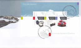 Australian Antarctic Territory 2017 Cultural Heritage Miniature Sheet FDC - Unused Stamps