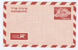 1953  ISRAEL 55 AEROGRAMME Postal Stationery Cover Stamps Deer - Israel