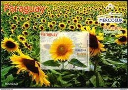 SV0156 Paraguay 2012 Alternative Energy Sunflower Flower M/S MNH - Plants