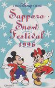 Télécarte Japon / 110-174002 - DISNEY STORE - MICKEY & MINNIE ** SNOW FESTIVAL ** - Japan Phonecard * 7000 EX - Disney