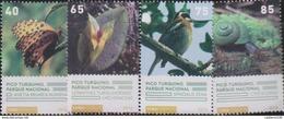 O) 2016 CUBA-CARIBE, NATIONAL PARK - PICO TURQUINO, ANETIA BRIGREA, LEPHANTES, SPINDALIS, CYSTICOPSIS,BIRD,SNAIL, FLOWER - Unused Stamps
