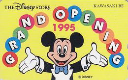 Télécarte Japon / 110-166702 - DISNEY STORE GO 1995 - MICKEY  - ** KAWASAKI BE ** - Japan Phonecard TK / 4000 EX - Disney