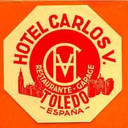LUGGAGE LABELS LABEL HOTELS HOTEL TOLEDO SPAIN ESPAÑA ESPANA ESPAGNE - Autres Collections