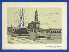 VINTAGE ART DOUBLE CARD PORTUGAL FATIMA FÁTIMA 1950s - Religions & Beliefs