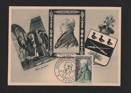MAXIMUM CARD 1954 FRANCE COMTE DE LAVALETTE POSMAIL POSTES JOURNEE DU TIMBRE Z1 - Europe (Other)