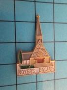 Pin113c Pin's Pins : Rare Et Belle Qualité : VILLES / CALVADOS NORMANDIE EGLISE DE NOYERS BOCAGE - Villes