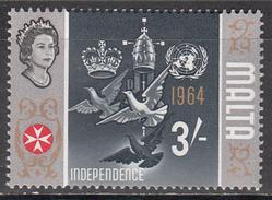 MALTA       SCOTT NO. 327     MINT HINGED     YEAR  1965 - Malta