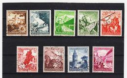 EBA590 DEUTSCHES REICH 1938  MICHL  675/83  SCHÖNER GESTEMPELTER SATZ Siehe ABBILDUNG - Deutschland