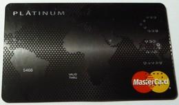 BULGARIA - Credit Card - Specimen - MasterCard - Platinum - Cartes De Crédit (expiration Min. 10 Ans)