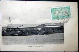 DJIBOUTI LES DOUANES FRONTIERE DOUANIERS CARTE VOYAGE TIMBRE ET CACHET - Djibouti