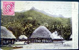 OCEANIE ILE SAMOA PAGO PAGO VUE DE VILLAGE ET CASES CARTE VOYAGE TIMBRE ET CACHET - Samoa