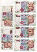 Italia - Lotto Di 6 Banconote Da Lire 1000 Maria Montessori - Decreti Vari - Vedi Foto - (FDC6020) - [ 2] 1946-… : République