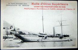 MONACO MONTECARLO LE YACH PRINCESSE ALICE VOILIER LUXE PUBLICITE POUR L'HUILE D'OLIVE DE NICE - Monaco