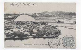 LE CROISIC EN 1904 - MULONS DE SEL ET MARAIS SALANTS - BEAU CACHET - CPA VOYAGEE - Le Croisic