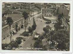 ORISTANO PIAZZA ROMA E CHIESA S.SEBASTIANO VIAGG. MANCA F.BOLLO FG - Oristano