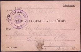 ROMANIA - AUSTRIA - K.u.K. - TABORI POSTAI - RESERVESPITAL LUGOS - 1914 - Cartas De La Primera Guerra Mundial