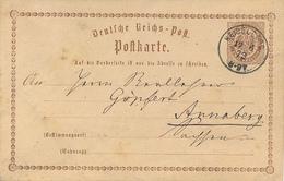 HEIDELBERG - 1873 , Karte Nach Annaberg - Entiers Postaux