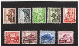 EBA593 DEUTSCHES REICH 1939  MICHL  730/38 SATZ Used / Gestempelt SIEHE ABBILDUNG - Deutschland