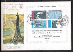 FRANCE Bloc 7 ARPHILA 75 FDC Premier Jour Sur Grande Enveloppe 09/06/1975 - FDC