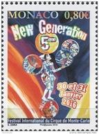 MONACO 2016 / / Y.T. N° 3010 - 5e FESTIVAL CIRQUE NEW GENERATION - NEUF ** - Unused Stamps