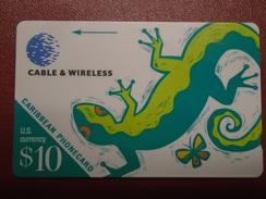 CARIBBEAN ISLANDS - LIZARD - 208BCAA - Telefonkarten