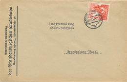 BRANDENBURG - 1938 ? , Brief Der Betriebsverwaltung Der Brandenburgischen Städtebahn - Big Letter, Dispatch - 4,20 EURO - Deutschland