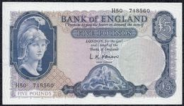 England, 5 Pounds 1961 First Series *XF+* Banknote - Groot-Brittanië
