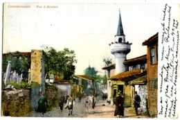 Constantinople Rue à SCUTARI An Animée Street Life Couleurs 1908 - Türkei