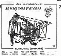 BUBBLE GUM / CHEWING GUM: GORILA - AERONAUTICAL SERIES / (2) FLYING MACHINES - 073 ROMBOIDAL (EDWARDS) - Vieux Papiers