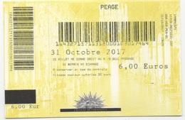 Ticket De Péage : Château De Versailles : 31/10/2017 : 6,00 Euros - Tickets - Entradas