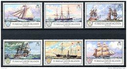 Turks And Caicos Islands, 1973, Sailing Ships, Tall Ships, Boats, MNH, Michel 322-327 - Turks & Caicos (I. Turques Et Caïques)