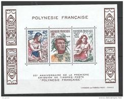 """Polynésie Bloc Yt 4 """" 1ere émission De Timbres-poste En Polynésie """" 1978 Neuf** - Blocs-feuillets"""