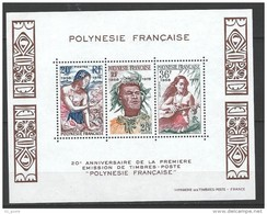 "Polynésie Bloc Yt 4 "" 1ere émission De Timbres-poste En Polynésie "" 1978 Neuf** - Blocks & Sheetlets"