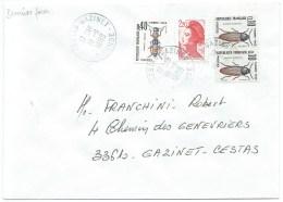 ENVELOPPE TIMBRE TAXE / INSECTES / DERNIER JOUR D'UTILISATION / CESTAS GAZINET 1988 - 1960-.... Covers & Documents