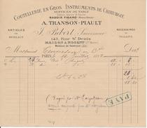 Coutellerie En Gros, Instruments De Chirurgie - J. BEBERT   Paris, Nogent (Haute Marne), 1892 - France